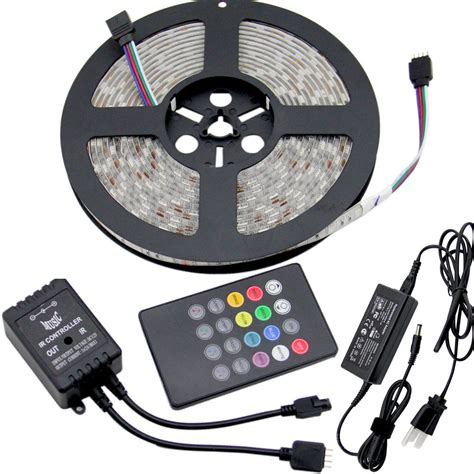5 100m 5050 Rgb Led Strip Light Dimmable Sound Activated Led Light Strips Uk