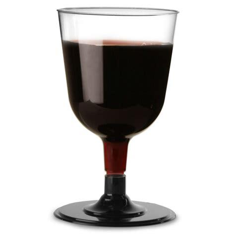 disposable barware disposable wine glasses black 5 3oz 150ml