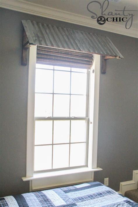 window awnings metal diy corrugated metal window awning love this decor