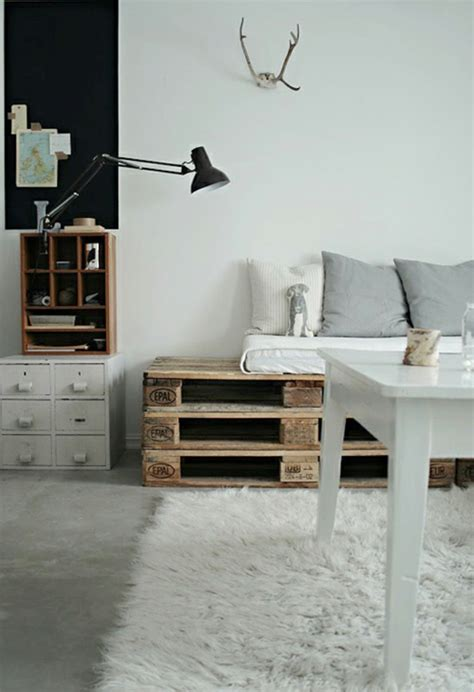 cool ideas  homemade wooden pallets furniture