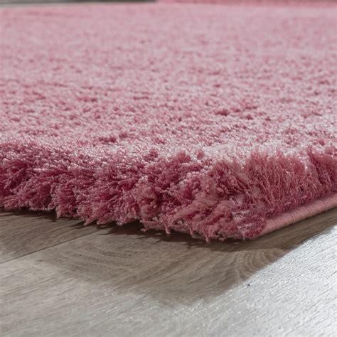 hochflor teppich pink shaggy teppich hochflor modern einfarbig kuschelig weich