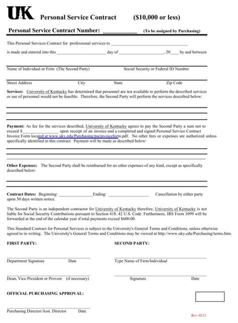 Download Contract Template For Free Formtemplate Av Service Contract Template