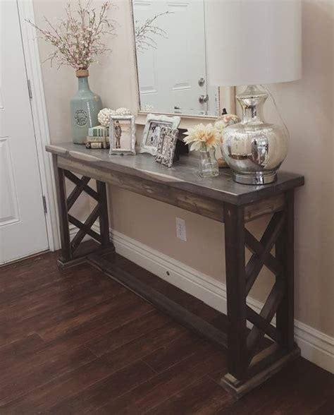 rustic farmhouse entryway table sofa table