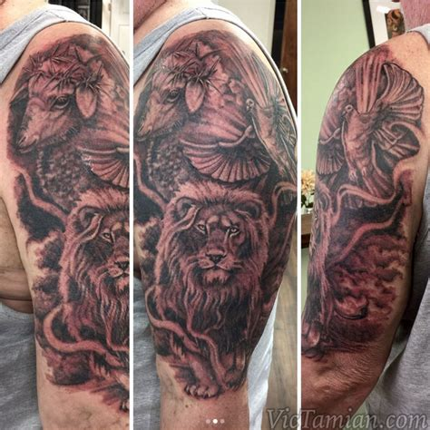 christian lion tattoo vic tamian certified artist