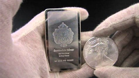 1 Ounce Silver Bar Size by Hd 10 Oz Scottsdale Quot Stacker Quot Silver Bullion Bar
