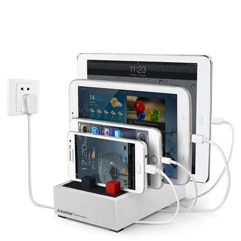 desk l with usb charging station avantree powerhouse plus multi device usb desk charging