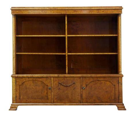 early 20th century empire revival birch bookcase cabinet