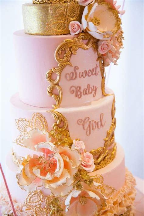 Rs Gamis Tutu Pink pink and gold tutu baby shower cake detail baby