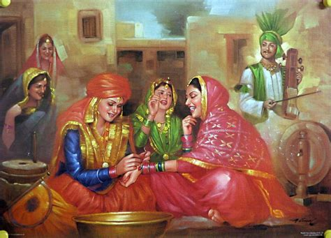 Indian painting marriage