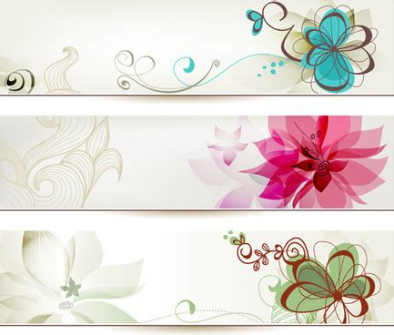 Flower Banner Free Vector Download 17 695 Free Vector For Commercial Use Format Ai Eps Cdr Flower Banner Template