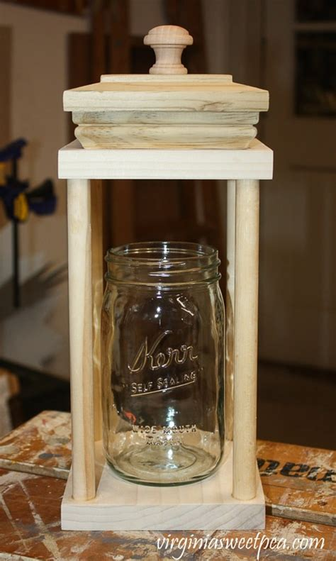 lovely Living Room Centerpiece Ideas #3: how-to-make-a-DIY-Wood-Lantern-for-Christmas-virginiasweetpea-15_thumb.jpg