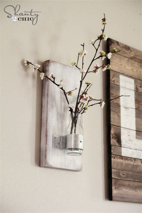 Wall Vase by Glass Bottle Wall Vase Shanty 2 Chic