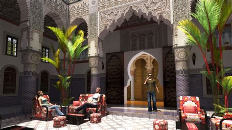 islamic decor in modern arab architecture or arabic themed