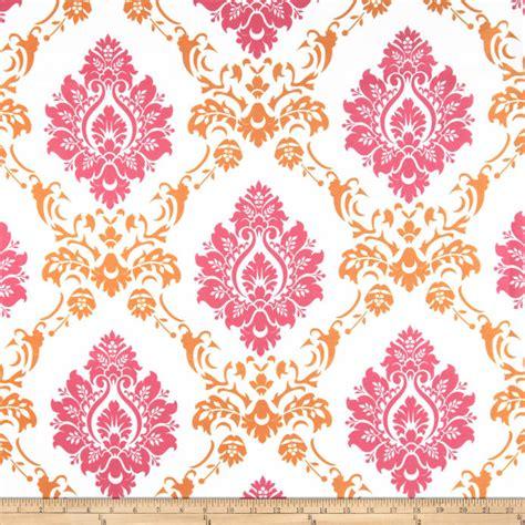 orange and pink cross pattern cuptakes wallpapers for rca sheers damask pink orange discount designer fabric