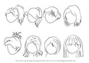 how to draw anime step by step learn how to draw anime hair hair step by step