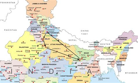 Finder India Map Of Northern India Search Engine At Search