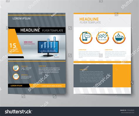 business magazine template set business magazine cover flyer brochure stock vector