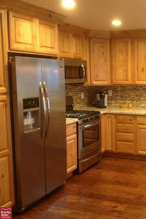 natural rustic alder cabinets natural knotty alder kitchen cabinets backsplash mission