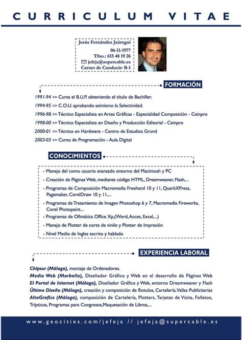 Modelo Curriculum Breve Suminfor Formaci 211 N C2 Realizaci 243 N De Curriculum Vitae O Curriculo