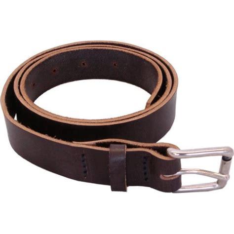 Handmade Mens Leather Belts - hamlet mens real leather belt havanna brown colour