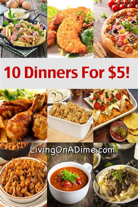 10 dinners for 5 cheap dinner recipes and ideas pizza honey baked and frugal meals