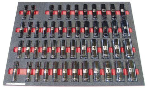 6 piece socket drawer organizers foam organizers for shadowing craftsman sockets
