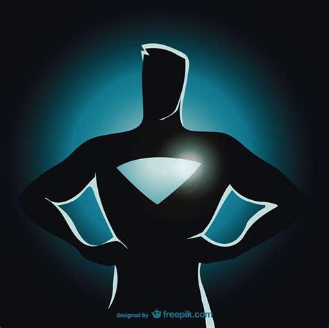 Superman Siluet standing silhouette vector free