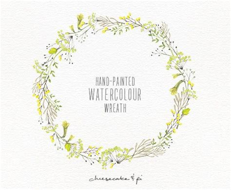 Wedding Stationery Brochure by Watercolor Wreath 1 Png Floral Clip Par