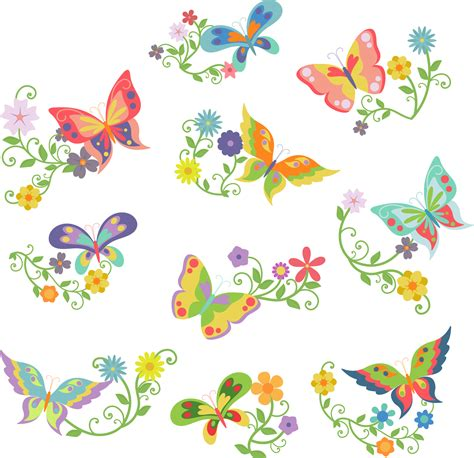 farfalle clipart flowers and butterflies clipart ciij