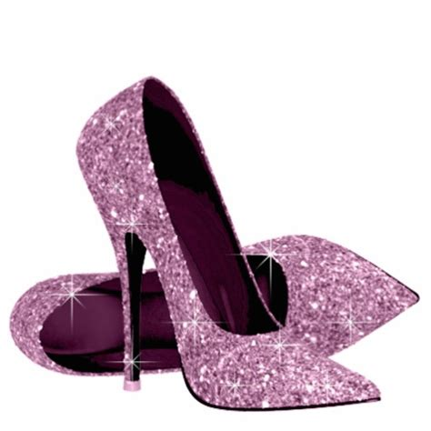 pink glitter high heel shoes standing photo
