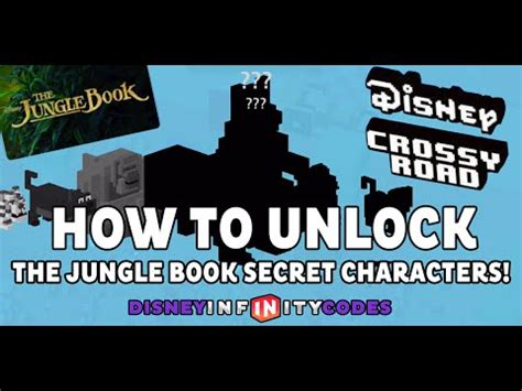 how do u find the mystery characters in cross road how to unlock the jungle book secret characters in disney