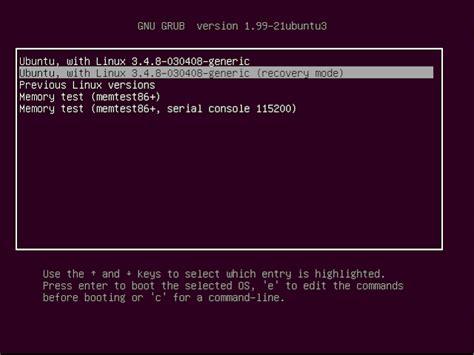 resetter for ubuntu 2 tekan e untuk mengedit boot options cari baris linux