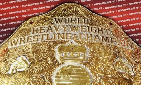 textured  style big gold championship belt top rope