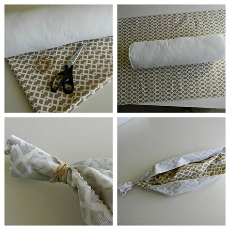 No Sew Bolster Pillow by 31 Days Of Loving Where You Live Day 6 Change The Look