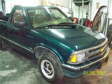 1996 chevy s 10 s10 ls v8 project truck green bed