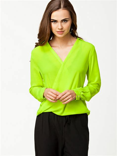 Blouse Lime collar wrap blouse river island lime blouses