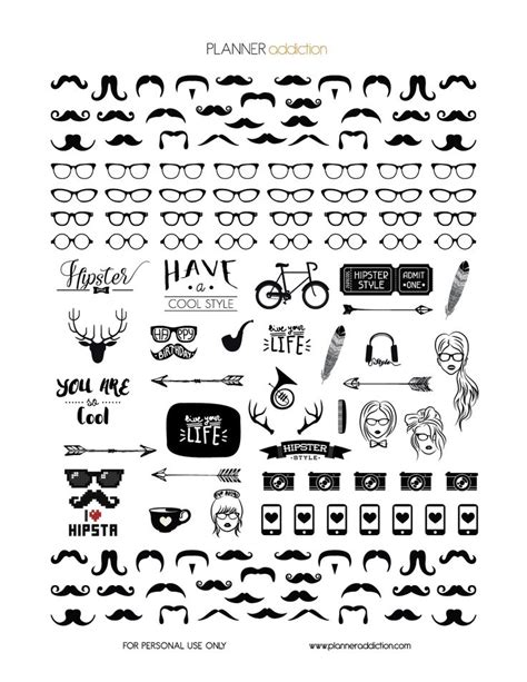 printable hipster stickers black white hipster stickers pinterest free