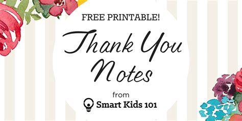 get your free printable thank you notes right here