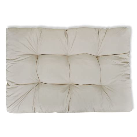 cuscino 80x80 cuscino da seduta imbottito bianco sabbia 120 x 80 x 10 cm