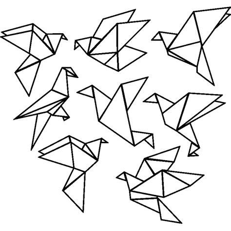 Dessin Oiseau Origami by Sticker Origami 8 Oiseaux Stickers Animaux Oiseaux