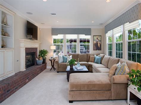 family room with sectional and fireplace blooming tufted chaise sofa with fireplace area rug