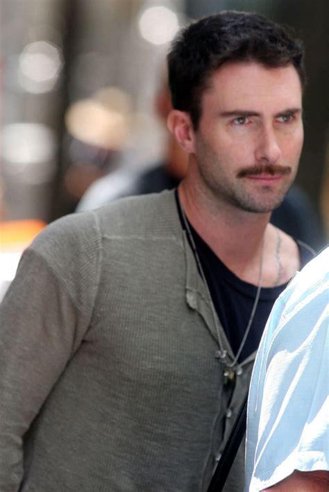 adam levine eye color adam levine with mustache zimbio