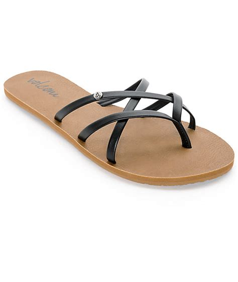 volcom new school sandals volcom new school black sandals at zumiez pdp