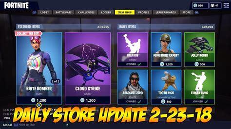 fortnite store fortnite daily store update 2 23 18