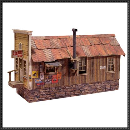 Papercraft Model Free - randsburg barbershop free building paper model