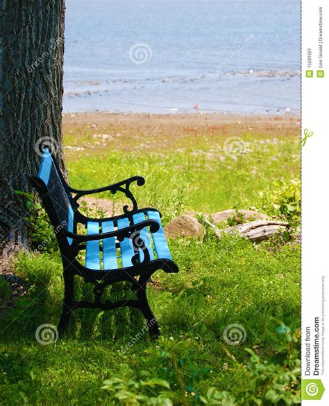 the blue bench the blue bench stock image image 15091691