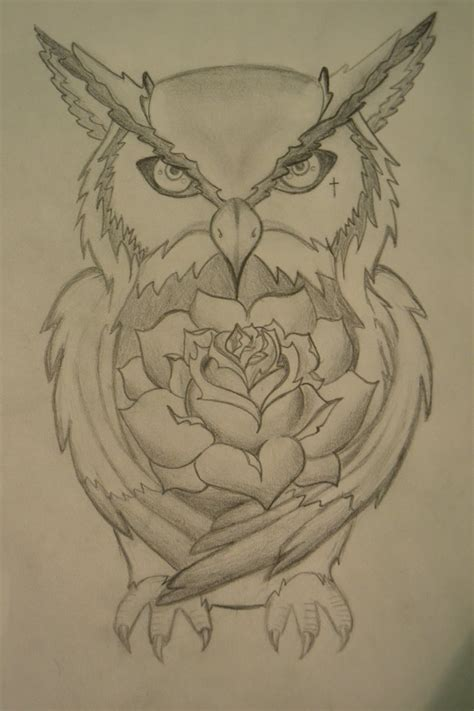 pencil drawings of tattoo designs owl design by cr0wdedmind on deviantart