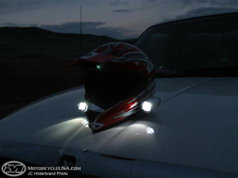 light motocross helmet dirt bike light