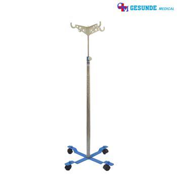 Tiang Infus Besi tiang infus kaki 4 portable gantungan tiang infus dilengkapi roda toko medis jual alat kesehatan