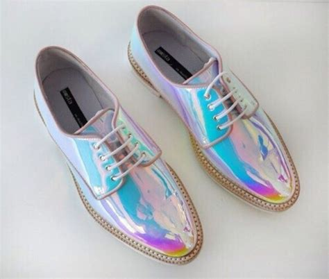 Shoe News From The Shiny Fashion Forum by Shoes Shiny Shoes Style Trendy Holographic